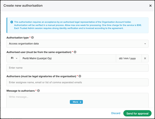 Authorisation to access organisation information_2
