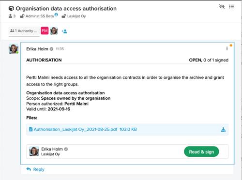 Authorisation to access organisation information_3