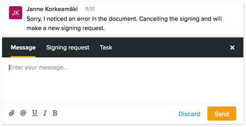 Using-SignSpace-new-message-inline