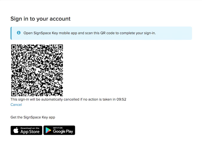 Beginning of the electronic identity verification