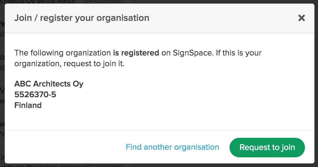 Modal for changing organization logo