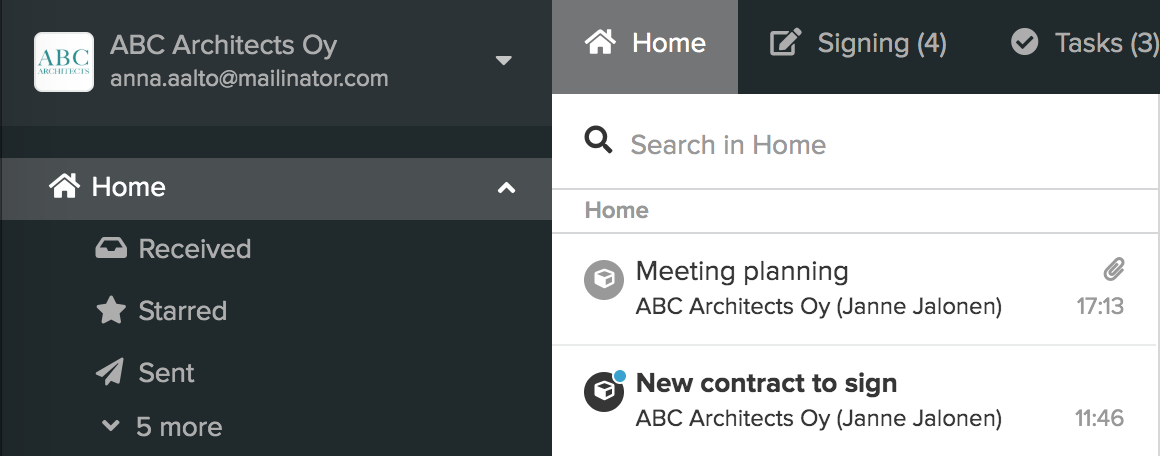 Home list is ungrouped into separate activities