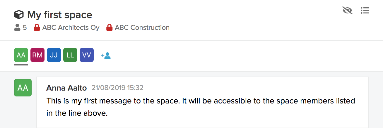 Access request to space notification