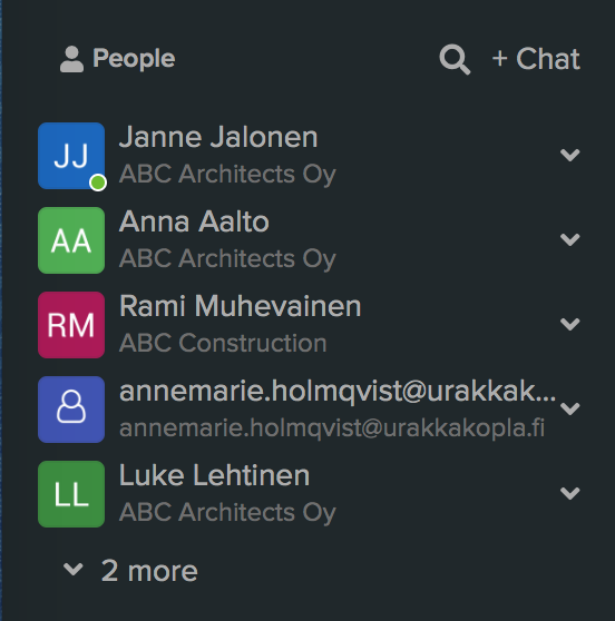 Form for starting new linked chat