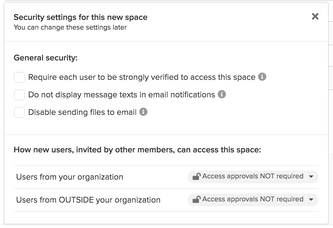Identity verification options for a signing request