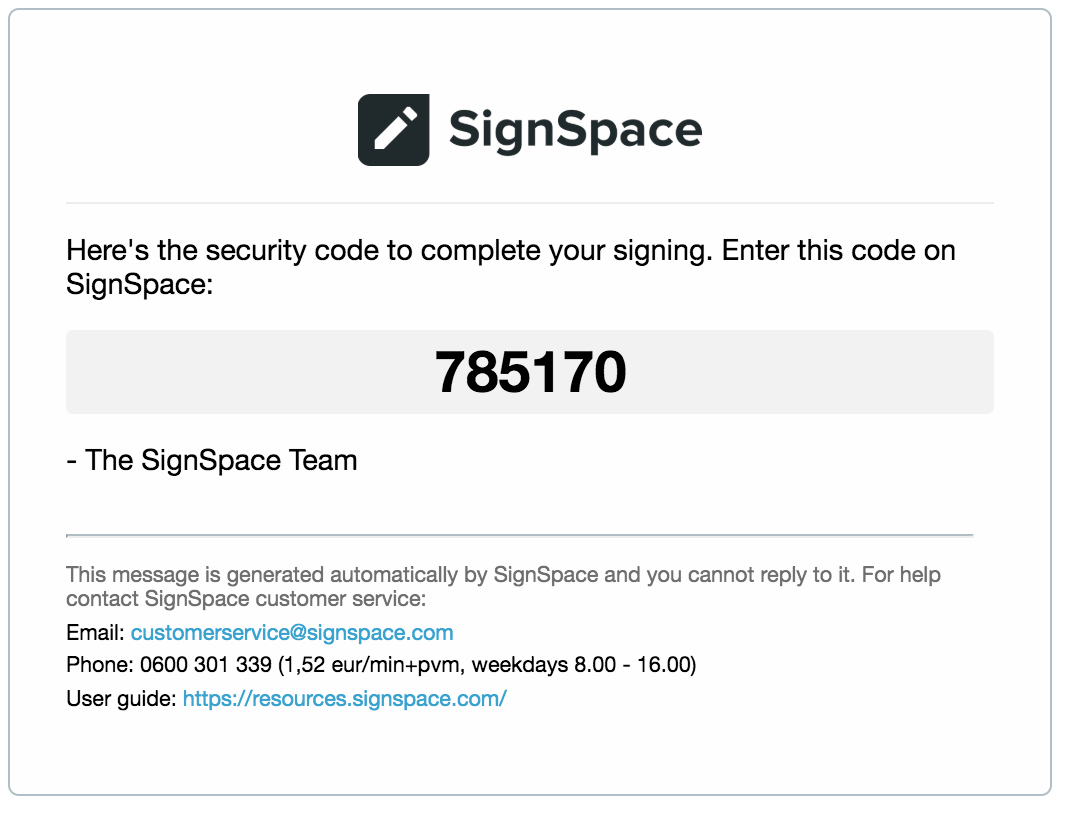 Set signatory signing order